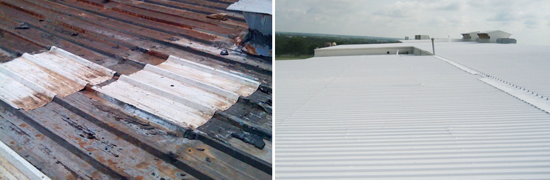 TBRC Roofing | Before/After of Roof damage