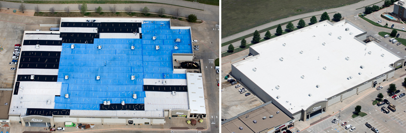 TBRC Roofing | Before/After Image of Roof Restoration